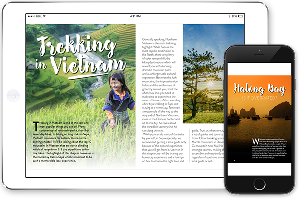 Vietnam guide on mobile and ipad