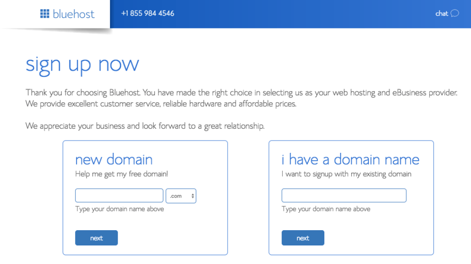 Start a blog Bluehost