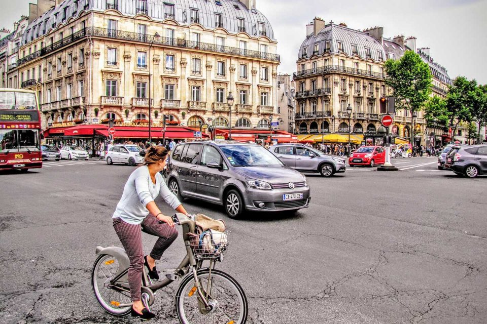 paris biking