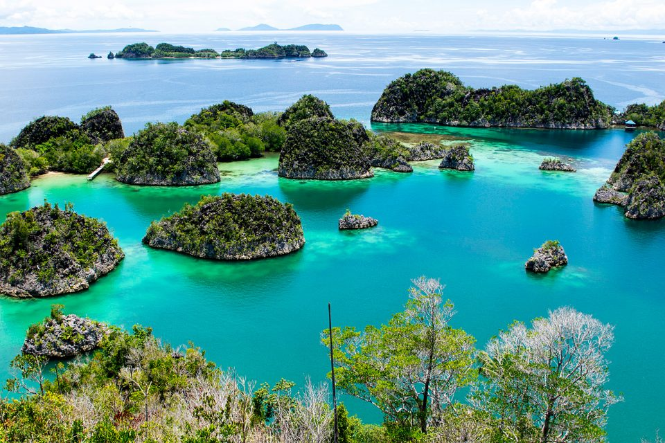 View of Piaynemo, Raja Ampat, Indonesia