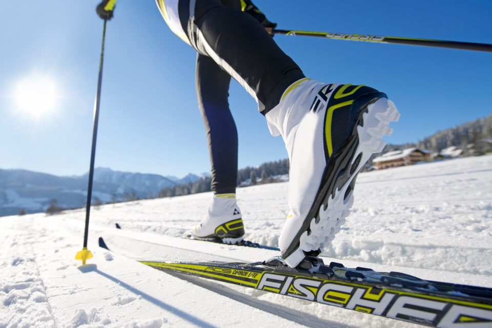 Cross Country skier close up