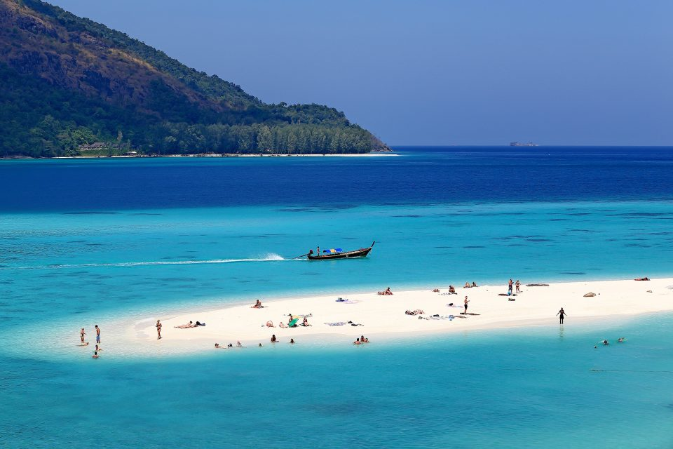 Sunset beach in Thailand