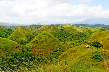 Rolling hills in the Philippines