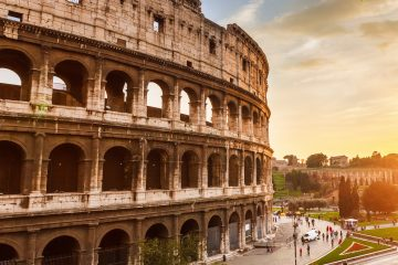 The colosseum at sunrise