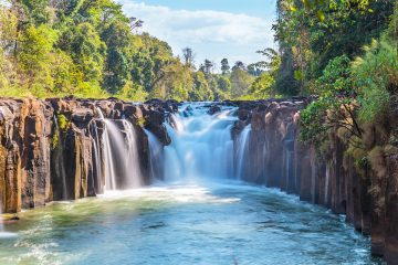 laos waterfalls nature